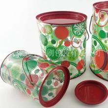 pet塑料马口铁罐/uv印刷制品/塑料罐身/pet马口铁罐