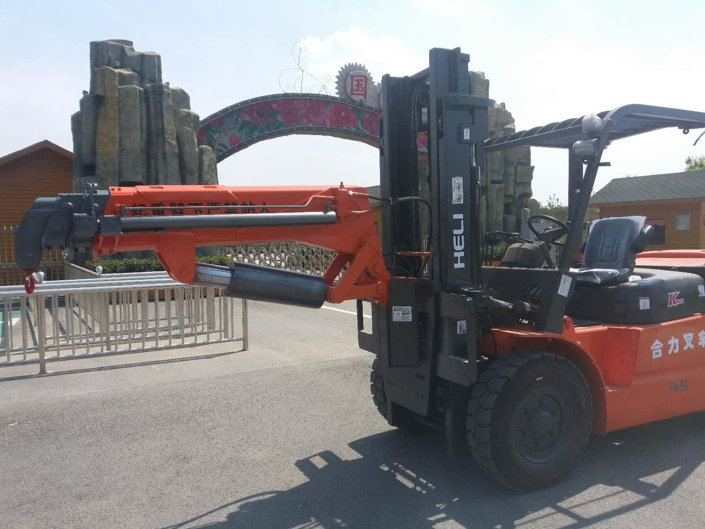 济宁5吨叉车吊臂报价直销多少钱一吨 自制叉车吨袋起式双吊臂电话