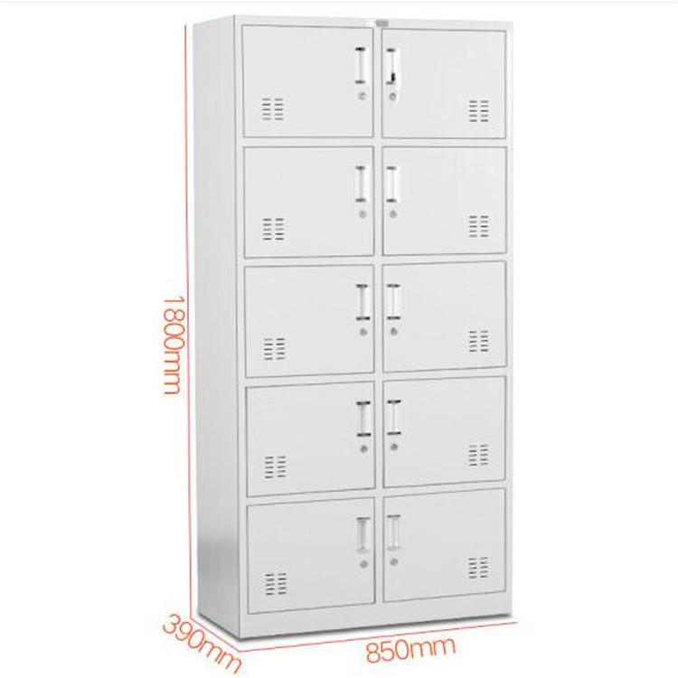 优质十门铁皮柜价格 天津市铁皮柜定制厂家 钢制铁皮柜厂