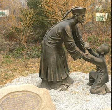 古代人物雕塑广场铸铜人物雕塑定做价格合理经久耐用 铸铜古代人物雕塑