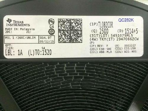 TL082CDR TI/德州仪器 运算放大器芯片IC TL082
