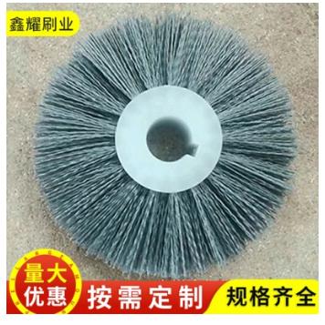除尘除锈毛刷价格 直销塑料磨料丝毛刷轮 磨料丝刷价格
