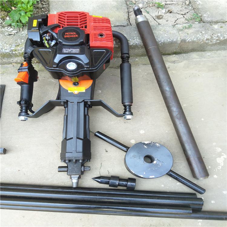 25kg重量便携式取土钻机 地质调查取土钻机 反冲式拉绳点火