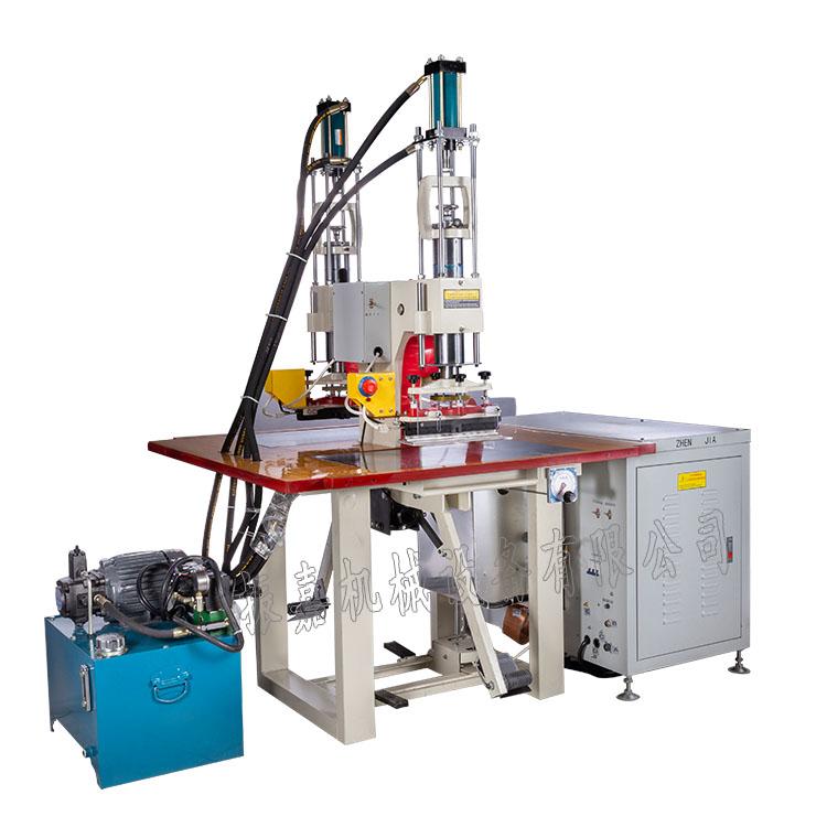 压服饰LOGO凹凸面高周波热压机 TPU烫金烫压服装立体图案专用机器