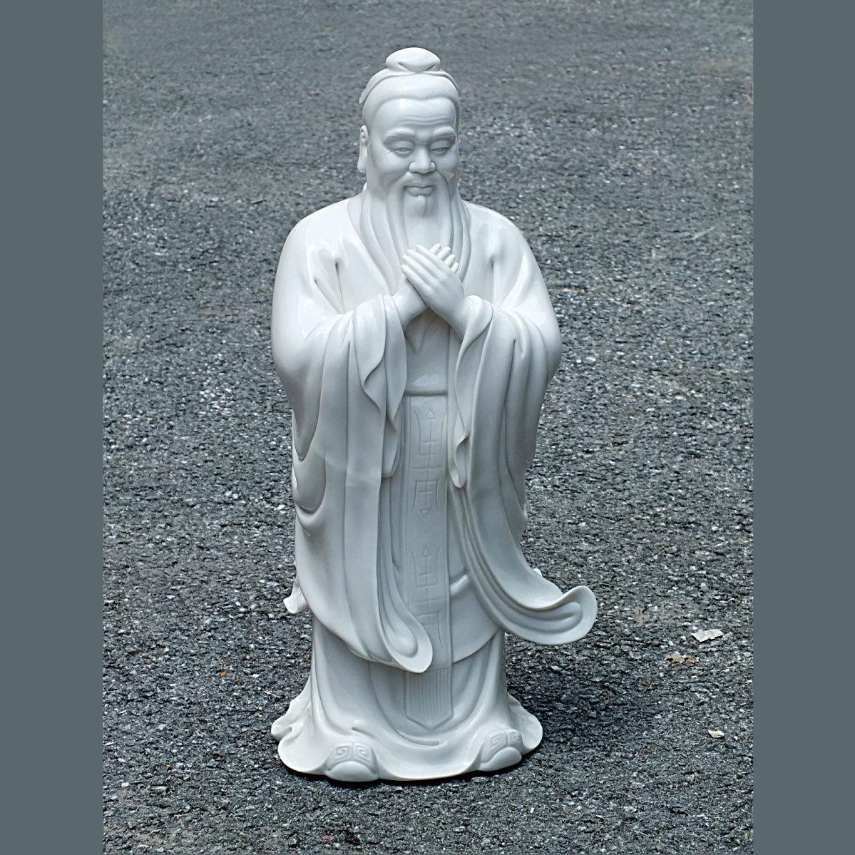 孔子像     汉白玉孔子雕像     石雕孔子     孔子雕刻     校园雕塑