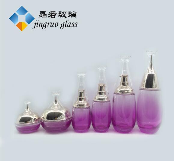 化妆品玻璃瓶厂家 现货:化妆品玻璃瓶40毫升 化妆品瓶120毫升 100ml乳液瓶子 化妆品玻璃瓶厂家