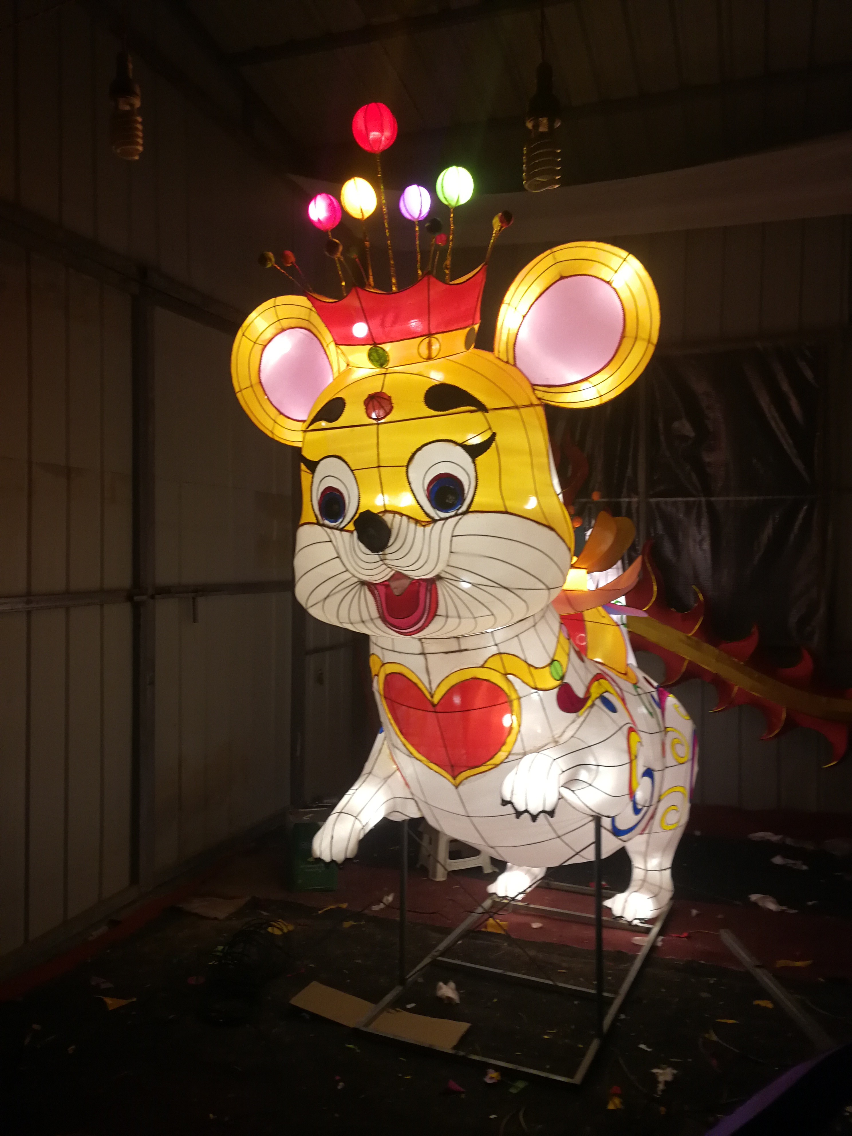 彩灯老鼠定做价格 新年彩灯12生肖批发 新年彩灯制作