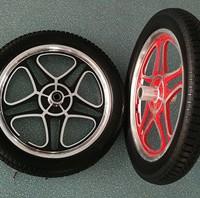 厂家直销PU发泡实心轮子 施肥机、割草机轮 16寸铝合金实心轮