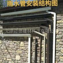 彩铝铝合金成品天沟屋檐沟别墅落水系统排水雨水槽PVC方形雨水管自建房屋檐排水沟厂家直销图片