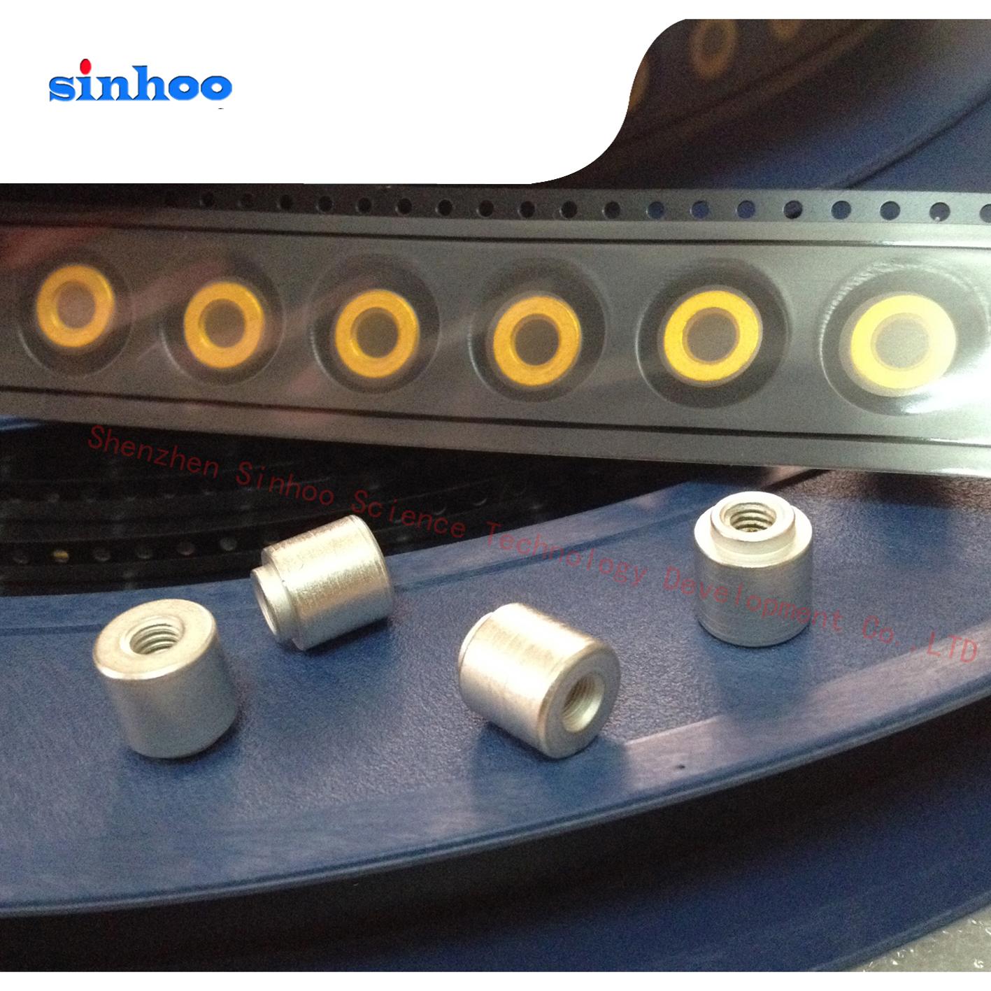 SMTSO-M4-3ET 主板表贴螺母柱  PCB贴片螺母 铜镀锡 盘装