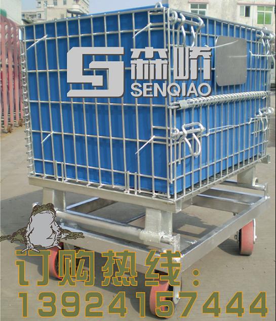 金属网格仓储笼 折叠式镀锌仓储笼