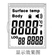 体温枪液晶屏HTP68461红外测温枪显示屏 额温枪LCD批发