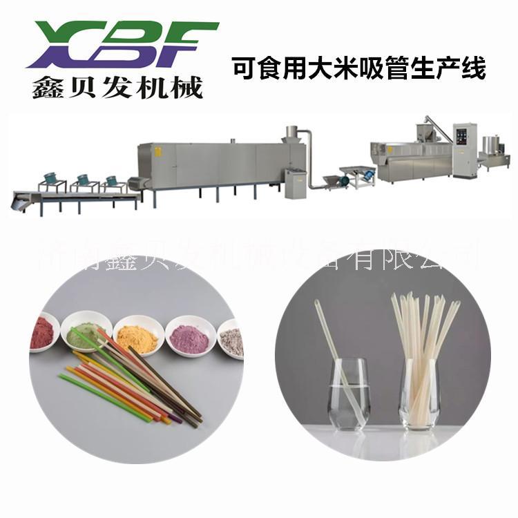 可食用吸管加工设备 粮食吸管生产设备 淀粉吸管生产机械