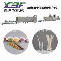 可以吃的大米吸管生产设备厂家报价 食用吸管生产线 环保吸管设备 大米吸管机械价格