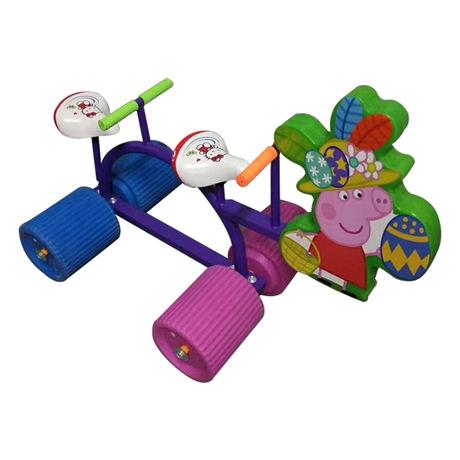 儿童玩具车 七彩滚筒协力车 儿童游玩设备供应
