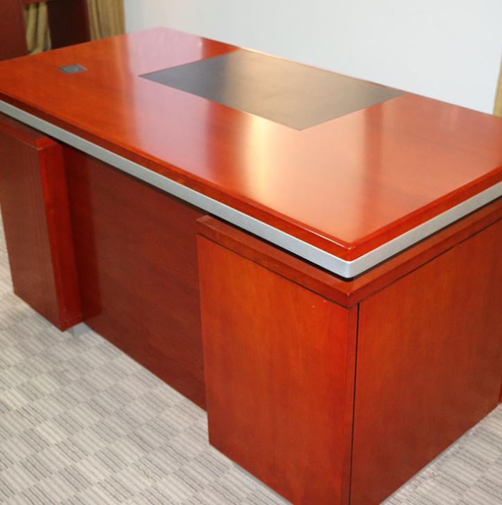实木办公桌 佛山家具办公桌供应 简约现代办公电脑桌 大宝环保油漆办公桌定制