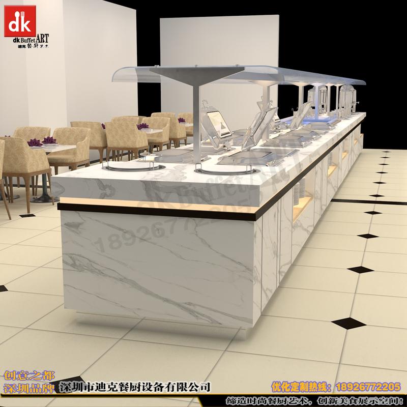 订做自助餐厅取餐台 爵士白全包自助餐台设计制作 多功能自助餐桌