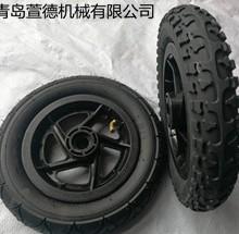 厂家直销10寸膝盖车充气轮子 10*2充气轮子 平衡车轮子图片
