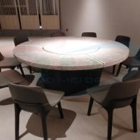 大理石斜桶款式电动餐桌