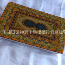 棕色长方形木体MDF 材料托盘与棉绒覆盖的珠宝礼品必备盒图片