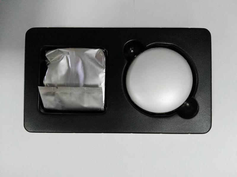 厂家直销 pvc黑砂吸塑 PVC盒 内托包装 磨砂吸塑 化妆品塑料 PVC吸塑