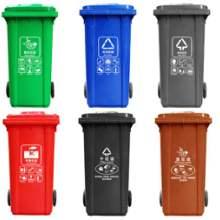 户外垃圾桶环卫加厚大号带盖塑料脚踩分类垃圾箱厂家