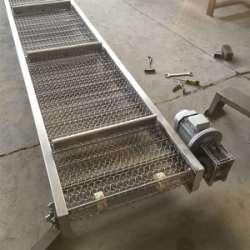 厂家直销不锈钢铝件爬坡网带输送机定制卓远