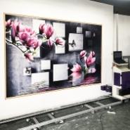 墙体喷绘机  新农村建设文化墙图片