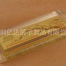 水晶镇纸压书器文房四宝镇压尺中国风书法摆件透明玻璃纸镇可定制图片