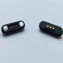 磁吸座 公母3P大电流磁吸连接器 防脱滑 防错位磁铁连接器 磁吸线图片