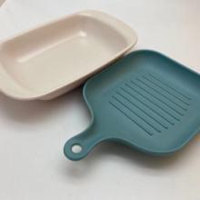 上海壹粵生煎小吃盤,餃子盤密胺餐具,生煎包仿瓷盤子餐具圖片